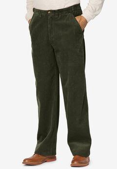Six-Wale Corduroy Plain Front Pants,