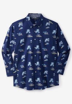 Nautica® Stretch Poplin Long-Sleeve Button Down Shirt,