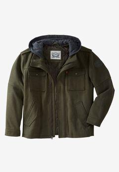 Wool Blend Hooded Trucker Jacket by Levi's®,