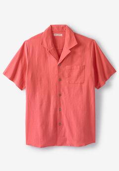 Gauze Cotton Camp Shirt,