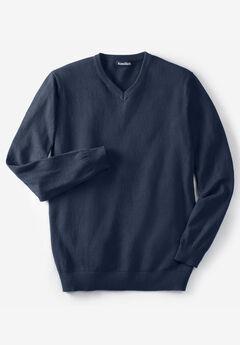 Lightweight V-Neck Sweater, NAVY