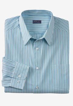 Modern Fit Long-Sleeve Broadcloth Flex Dress Shirt by KS Signature,