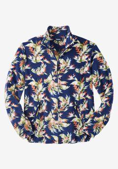 Full-Zip Fleece Jacket, ISLAND FLORAL
