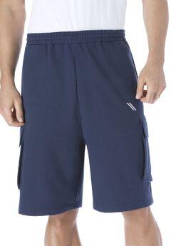 Wicking Fleece Cargo Shorts by KS Sport™,