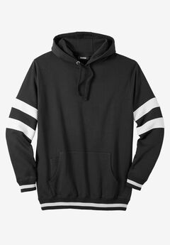 KingSize Coaches Collection Colorblocked Pullover Hoodie, BLACK