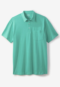 Shrink-Less™ Lightweight Polo T-Shirt,