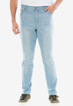 Relaxed Tapered Fit 5-Pocket Stretch Jeans by Liberty Blues®,