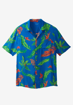 KS Island™ Tropical Caribbean Camp Shirt,