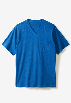 Shrink-Less™ V-Neck Pocket T-Shirt,