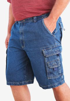 "Boulder Creek® Marine 12"" Cargo Denim Shorts,"