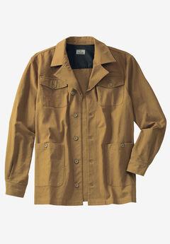 Duck Weave Canvas Barn Shirt Jacket by Liberty Blues®, BRASS