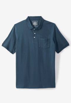 Liberty Blues® Pocket Piqué Polo Shirt, DEEP BLUE INDIGO