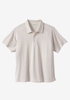 KS Island™ Short-Sleeve Luxe Polo, STONE