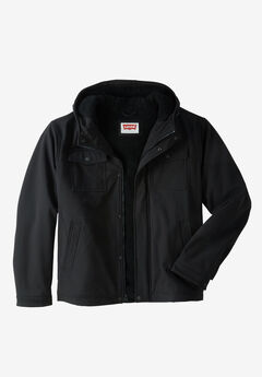 Two Pocket Sherpa-Lined Hooded Trucker Jacket by Levis®,