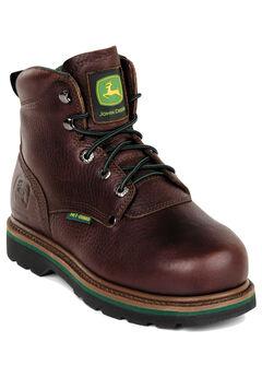"""John Deere 6"""" Steel Toe Lace Boot,"""