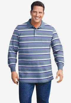 Liberty Blues® Long-Sleeve Polo Shirt, VARSITY BLUE MULTI STRIPE