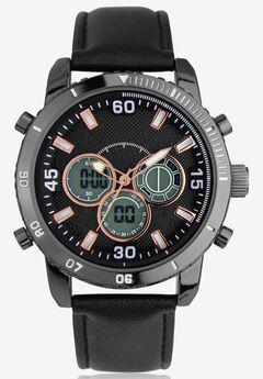 Dual Time/Alarm Chronograph Watch,