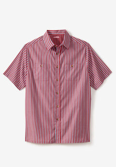 Striped Short-Sleeve Shirt,