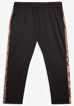 MVP Collections® Tech Knit Track Pants, MERLOT PYTHON