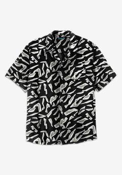 KS Island Printed Rayon Short-Sleeve Shirt,