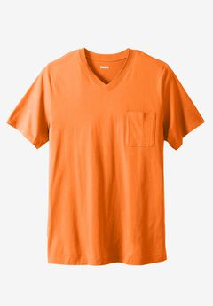 Longer-Length Lightweight V-neck Tee,
