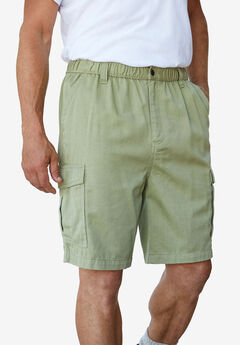 "Boulder Creek® Renegade 9"" Full Elastic Waist Single Pocket Cargo Shorts,"