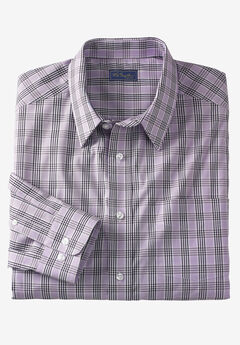 Classic Fit Broadcloth Flex Long-Sleeve Dress Shirt by KS Signature,