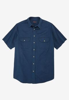 Boulder Creek® Short-Sleeve Shirt, BLUE INDIGO