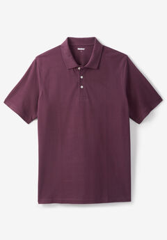 Piqué Polo Shirt, DEEP BURGUNDY