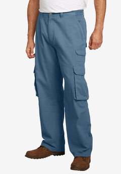 Boulder Creek® Side-Elastic Stacked Cargo Pocket Pants, SLATE BLUE