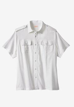 Linen Short Sleeve Pilot Shirt by Boulder Creek®,