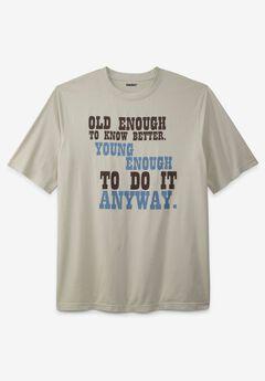 KingSize Slogan Graphic T-Shirt,