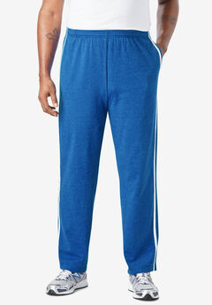 Lightweight Sweat Pants with Side Stripes,