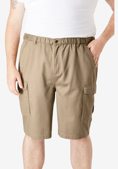 "9"" Renegade Cargo Shorts with Full Elastic Waist by Boulder Creek®,"
