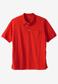 Liberty Blues® Pocket Piqué Polo Shirt, BRICK RED