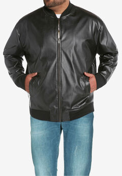 Perforated Faux Leather Jacket by MVP Collections®,