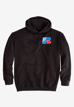 Chest Logo Hoodie by Russell Athletic®, BLACK