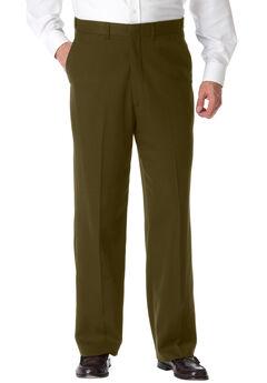 KS Signature No Hassle® Classic Fit Expandable Waist Plain Front Dress Pants,