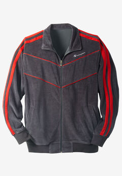 Velour Piped Track Jacket by Champion®,