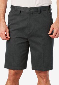 Classic Fit Wrinkle Free Expandable Waist Plain Front Shorts,