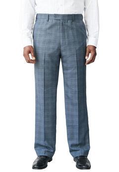 KS Signature Easy Movement® Plain Front Expandable Suit Separate Dress Pants, DARK BLUE WINDOW PANE