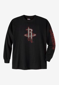 NBA® Long-Sleeve Black Logo Tee,