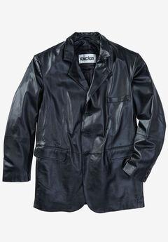Three-Button Leather Jacket,