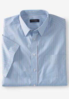 Classic Fit Broadcloth Flex Short-Sleeve Dress Shirt by KS Signature,