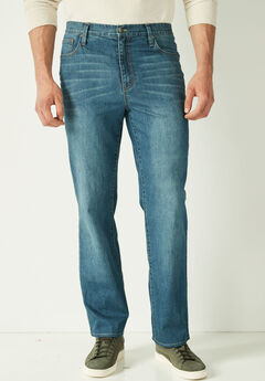 Liberty Blues® Loose Fit 5-Pocket Stretch Jeans,