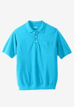 Banded Bottom Pocket Polo Shirt,