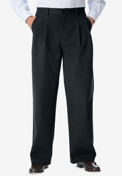 WRINKLE-Free DOUBLE-PLEAT PANT WITH SIDE-ELASTIC WAIST,