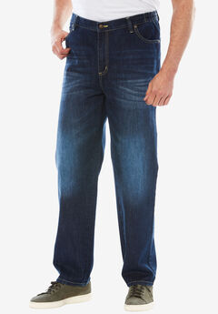Liberty Blues® Relaxed-Fit Side Elastic 5-Pocket Jeans,