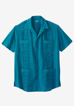 Short-Sleeve Guayabera Shirt by KS Island™,