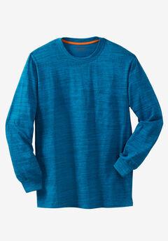 Boulder Creek® Heavyweight Crewneck Long-Sleeve Pocket T-Shirt, CLASSIC TEAL MARL